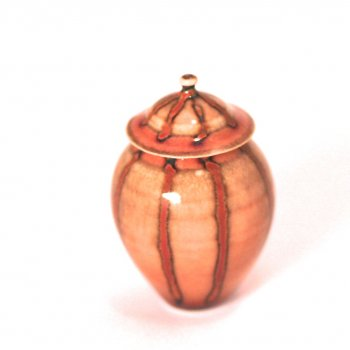 Brown Striped Ginger Jar by Andrea Fabrega