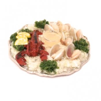 Lobster and Oyster Appetizer Tray by Mary Eccher