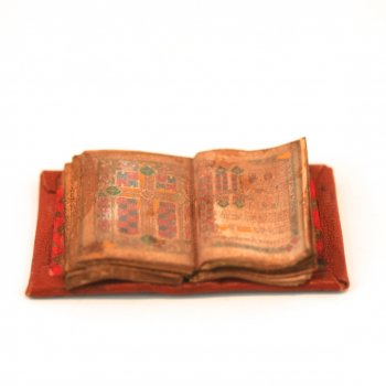 Open Illuminated Manuscript Book