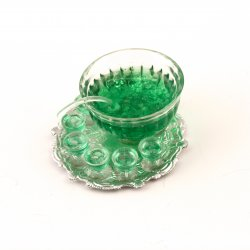 Green Punch Bowl & Glasses