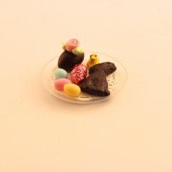 Cookie & Rabbit Plate - Pink foil