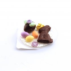 Cookie & Rabbit Plate - Purple Cookie